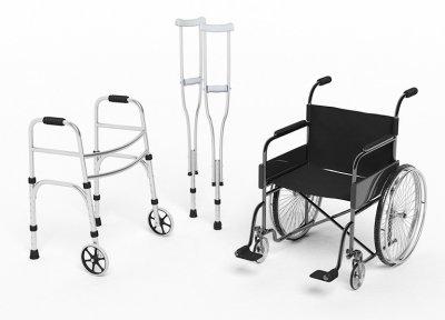 balkonik kule i wózek inwalidzki